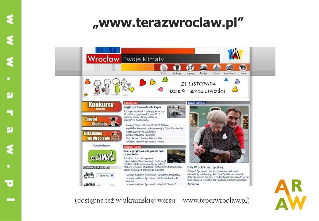 www.terazwroclaw.pl (dostępne też w ukraińskiej wersji – www.teperwroclaw.pl)