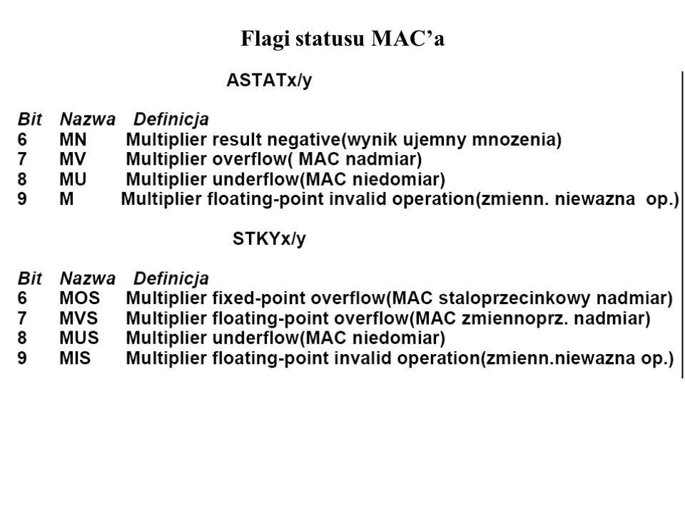 Flagi statusu MACa
