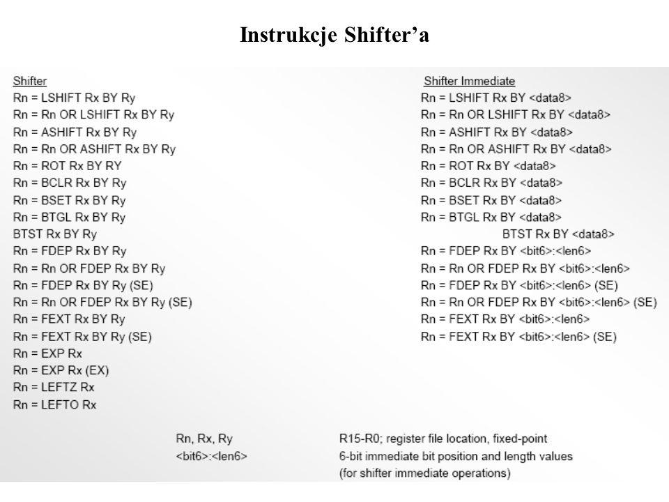 Instrukcje Shiftera
