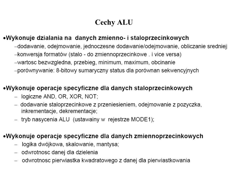 Instrukcje ALU: stałoprzecinkowe (Fixed Point)