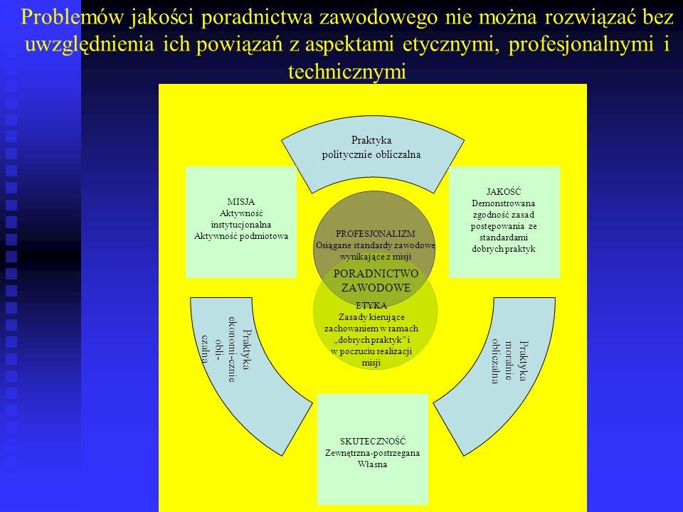 Metody te jako wczesne modele pomiaru psychometrycznego jakości charakteryzują trzy ogólne cechy Po pierwsze, koncentrują się one przede wszystkim na percepcjach, postawach i oczekiwaniach beneficjentów procesu doradczego.