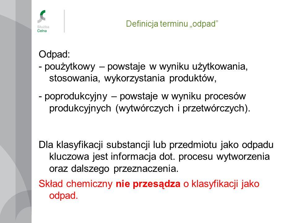 Eksport odpadów z UE Wywóz do odzysku do krajów poza OECD: -Odpady z listy zielonej i załącznika IIIA– w zależności od kraju przeznaczenia - zgodnie z rozporządzeniem Komisji nr 1418/2007 znowelizowanym rozporządzeniem nr 740/2008, nr 967/2009, nr 837/2010, nr 661/2011, nr 674/2012, nr 57/2013 Wersja skonsolidowana na www.gios.gov.pl Brak kraju lub kodu odpadu w ww.
