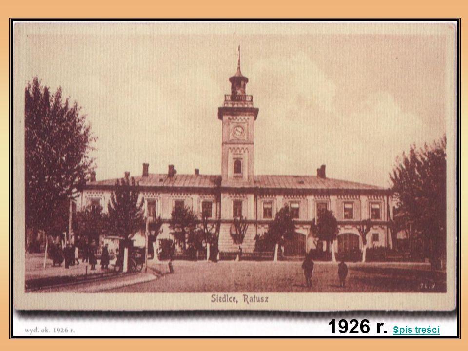 1926 r. Spis treści Spis treści