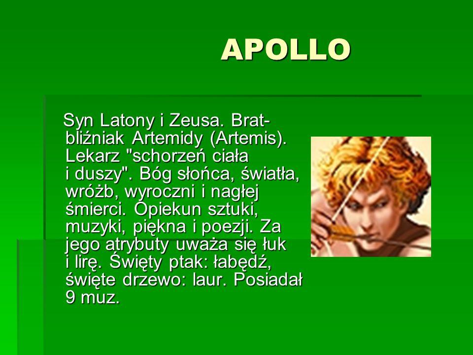 AFRODYTA AFRODYTA Najpiękniejsza bogini na Olimpie. Córka Zeusa. Urodziła się z piany morskiej na Cyprze. Żona Hefajstosa. Matka Erosa, Hermafrodyty i