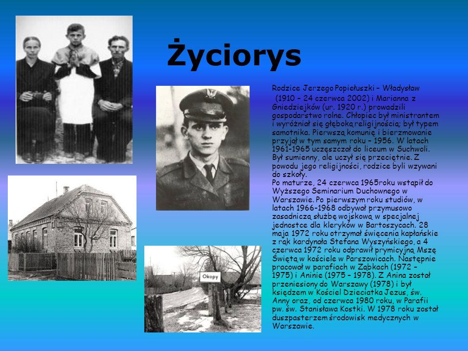 Ważne informacje Jerzy Popiełuszko urodził się 14 września 1947 w Okopach.