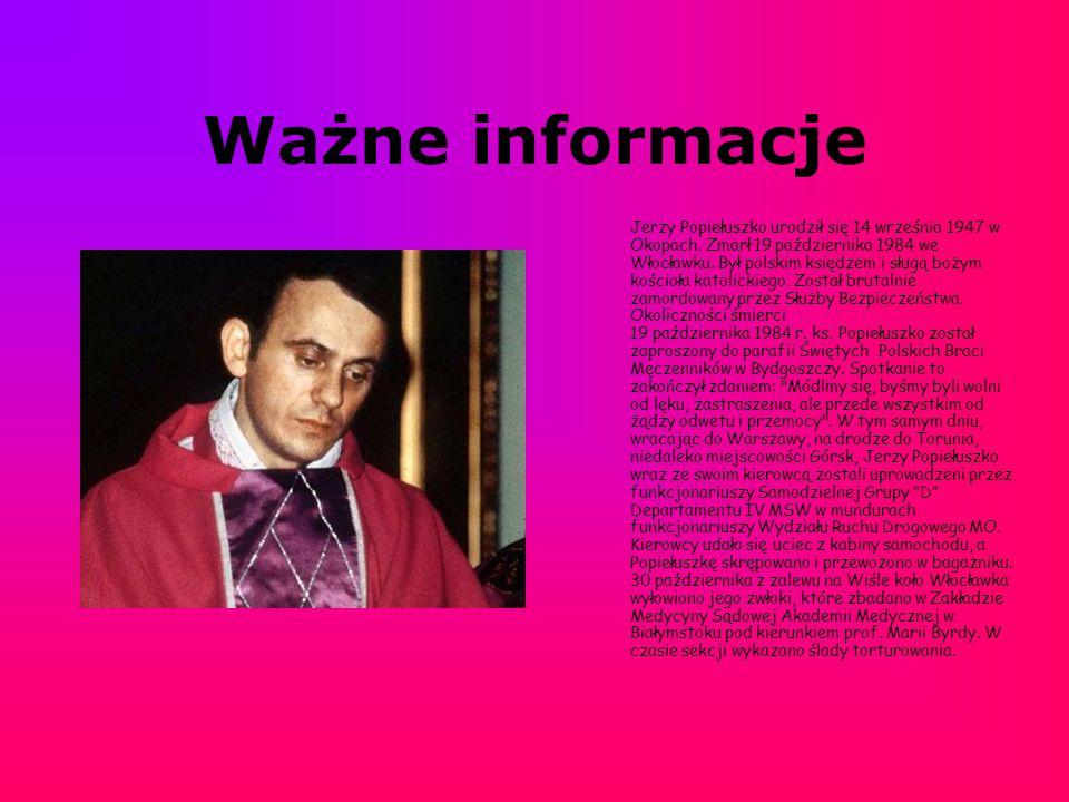Okoliczności Śmierci 19 października 1984 r.ks.