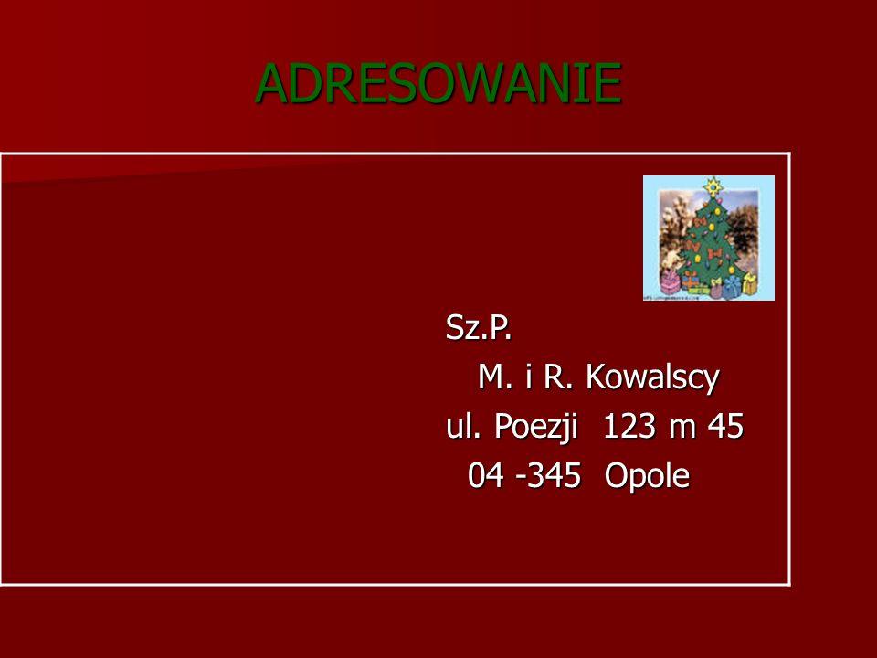 Warszawa, 20.XII2004 Warszawa, 20.XII2004 Kochani Dziadkowie.