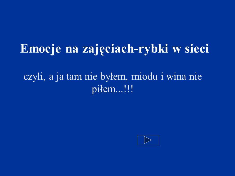 Emocje na zajęciach-rybki w sieci czyli, a ja tam nie byłem, miodu i wina nie piłem...!!!