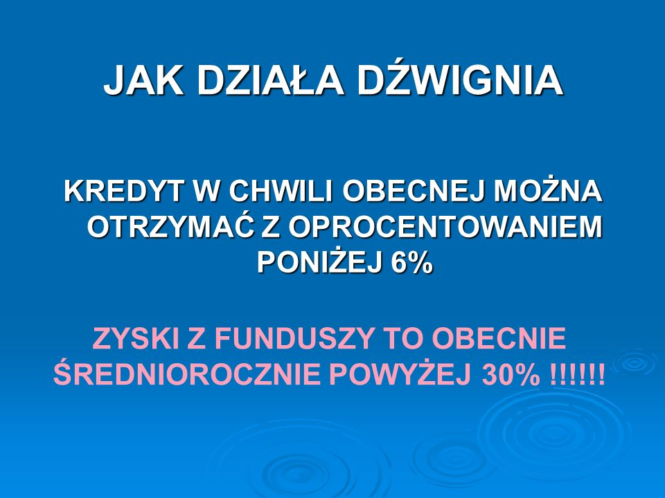 RYZYKO DZWIGNI FINANSOWEJ ISTNIEJE !!!!.