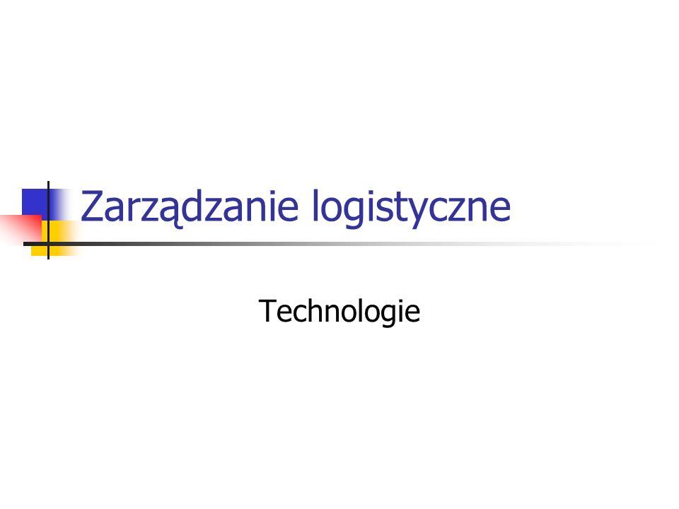 Zarządzanie logistyczne Technologie