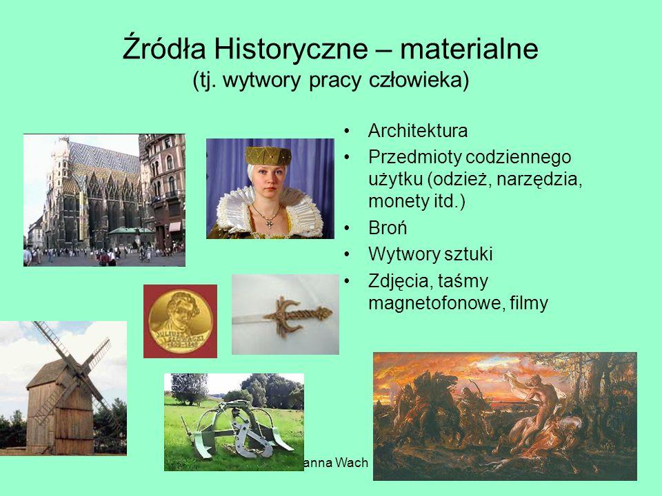 Hanna Wach Źródła Historyczne – materialne (tj.