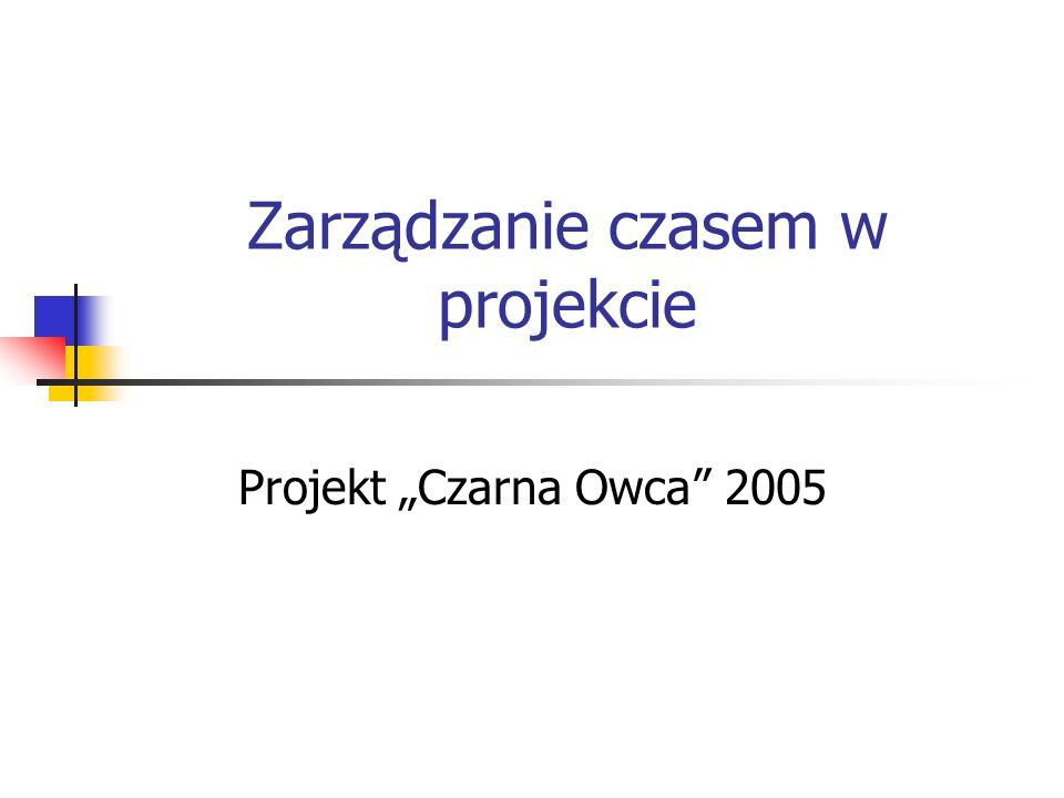 Zarządzanie czasem w projekcie Projekt Czarna Owca 2005
