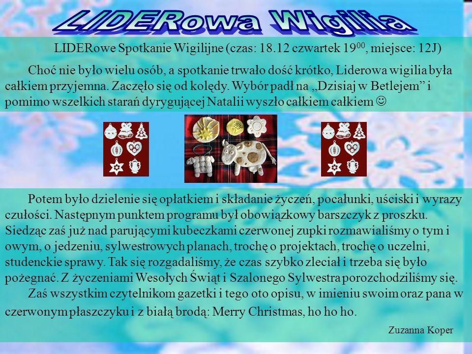 Jeśli macie pomysły na Lideroofkę, chcecie do nas dołączyć lub podzielić się spostrzeżeniami, czekamy: lideroofka@interia.pl