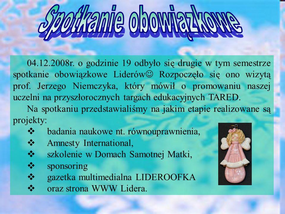 Wspominaliśmy wyjazd do Poznania na warsztaty SIFE, który odbył się 25.11.2008.r.
