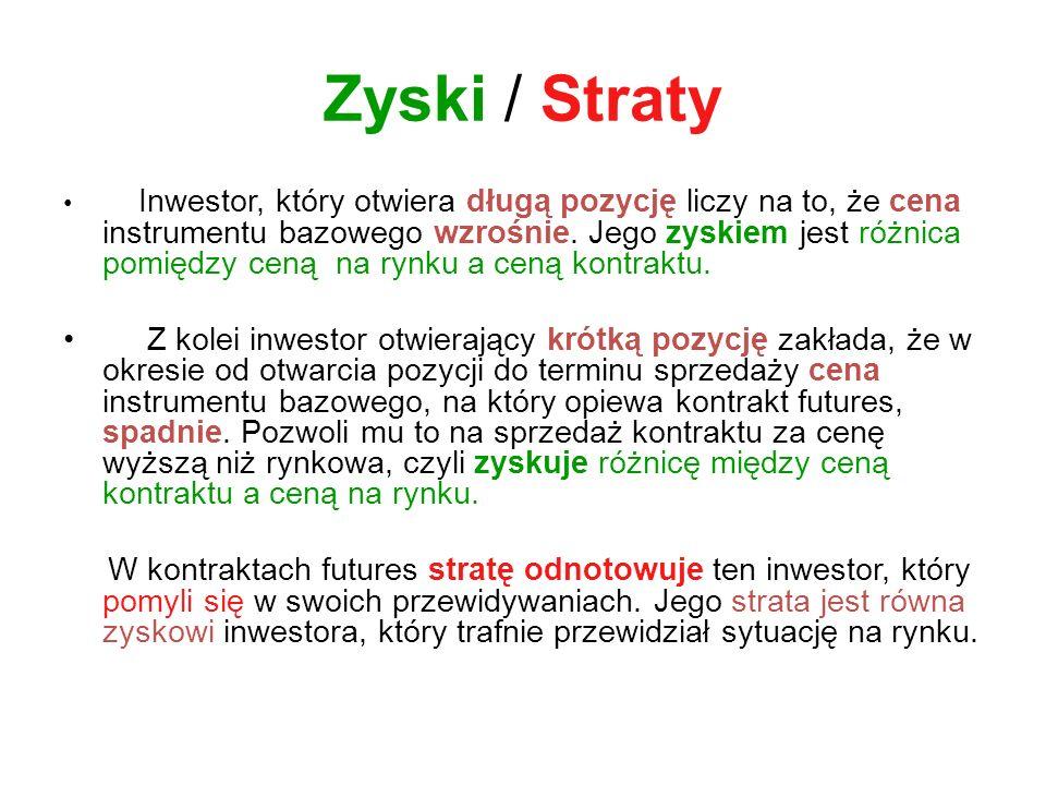 Literatura: Giełdowe Instrumenty Pochodne Krzysztof Jajuga.