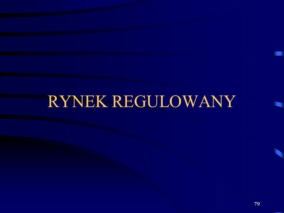 79 RYNEK REGULOWANY