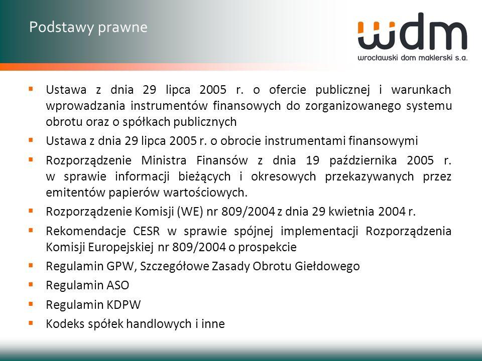Dokument Informacyjny – rozumie się przez to dokument informacyjny sporządzony zgodnie z wymogami określonymi w Załączniku Nr 1 do Regulaminu ASO (§ 2 ust.