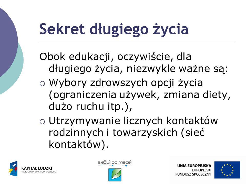 Badanie Kształcenie dorosłych zrealizowane w Polsce, w IV kwartale 2006, współfinansowane przez UE, pokazało potrzeby i aspiracje edukacyjne Polaków w wieku 25-64: - 2/3 ankietowanych nie uczestniczyło w żadnej formie edukacji,