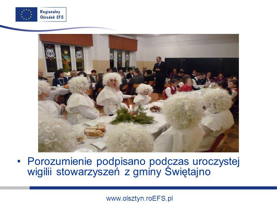 www.olsztyn.roEFS.pl Porozumienie podpisano podczas uroczystej wigilii stowarzyszeń z gminy Świętajno