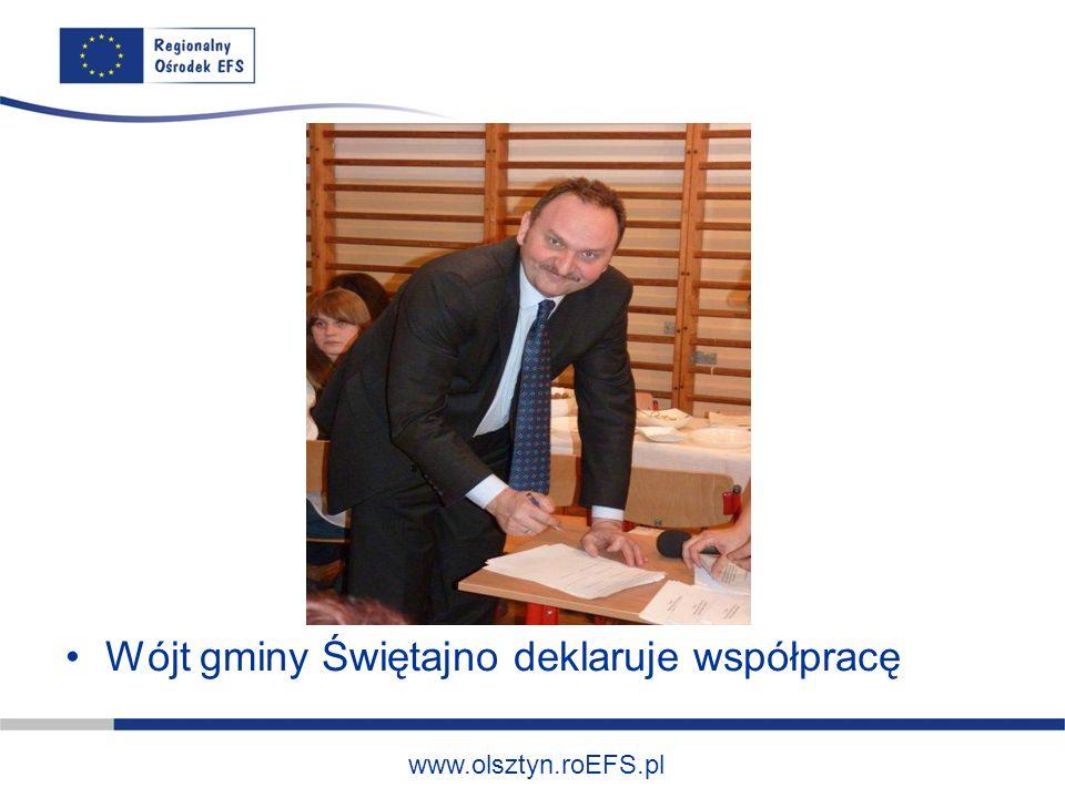 www.olsztyn.roEFS.pl Wójt gminy Świętajno deklaruje współpracę