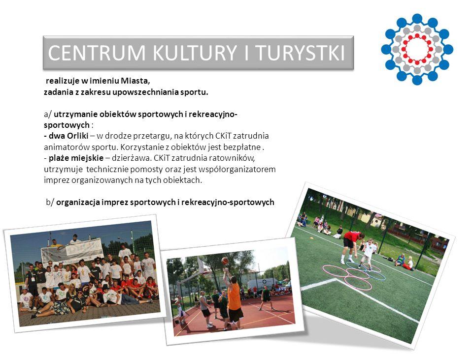 CENTRUM KULTURY I TURYSTKI realizuje w imieniu Miasta, zadania z zakresu upowszechniania sportu. a/ utrzymanie obiektów sportowych i rekreacyjno- spor
