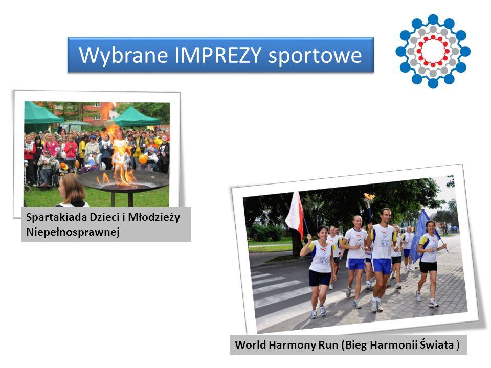 Wybrane IMPREZY sportowe World Harmony Run (Bieg Harmonii Świata ) Spartakiada Dzieci i Młodzieży Niepełnosprawnej