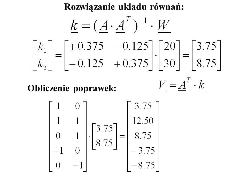 Zapis macierzowy: AVW.-=0