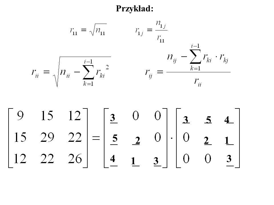 Przykład: 3 35 5 4 4 221 1 3 3