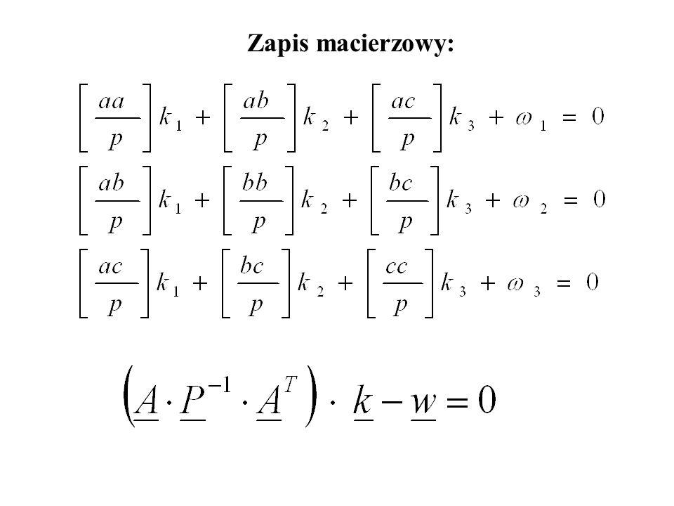 Równania normalne korelat