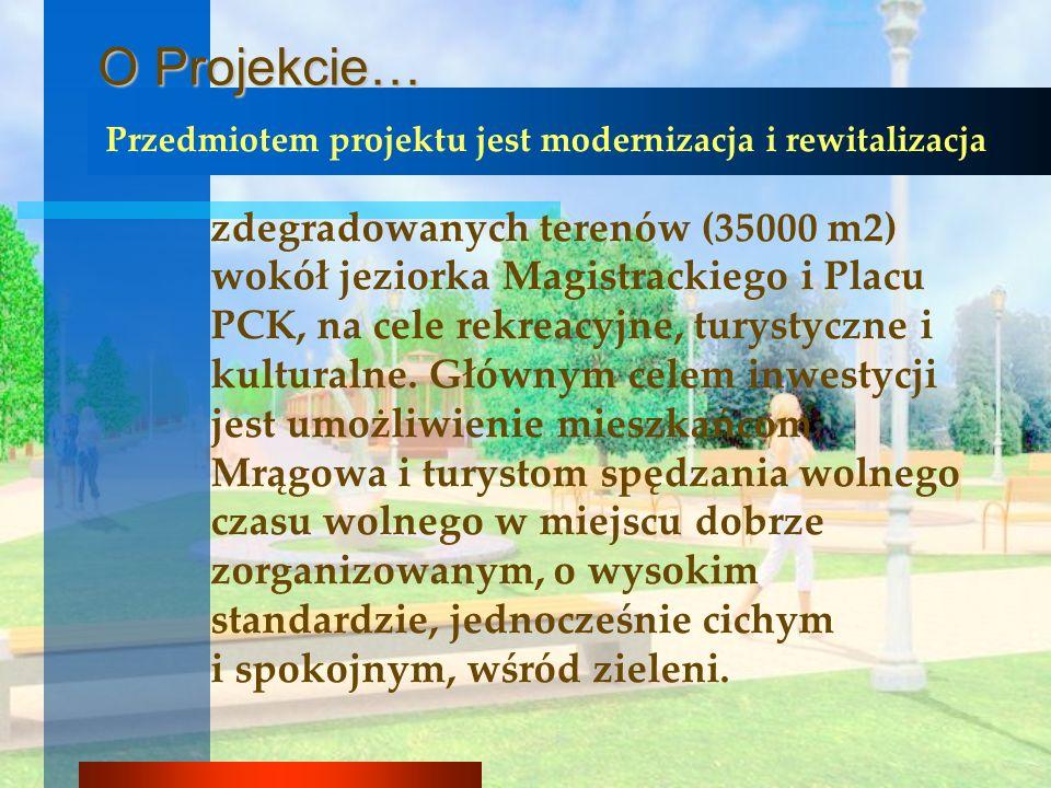 Przedmiotem projektu jest modernizacja i rewitalizacja zdegradowanych terenów (35000 m2) wokół jeziorka Magistrackiego i Placu PCK, na cele rekreacyjn