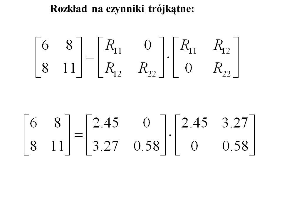 Obliczenie odwrotności R czyli R -1