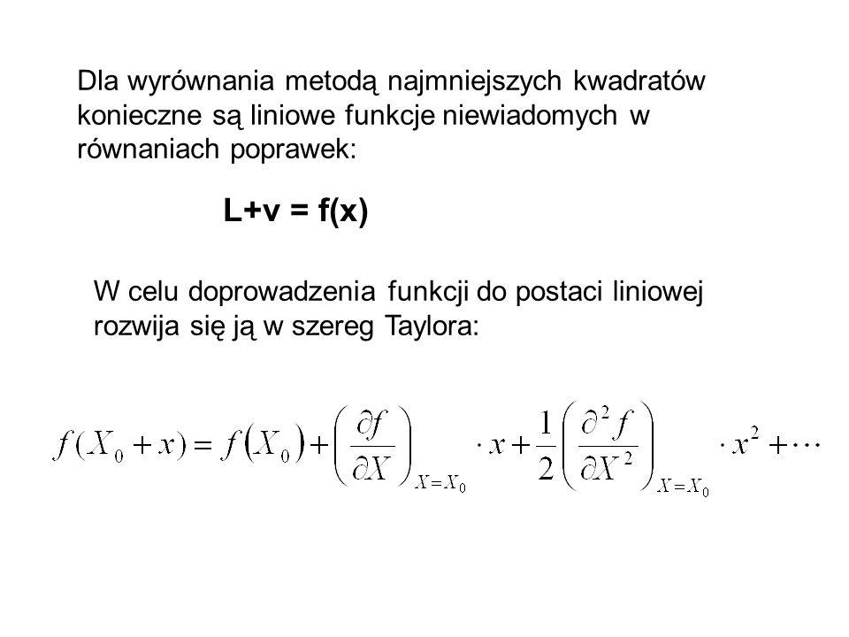 Problem wyrównania iteracyjnego może pojawić się w zadaniu, w którym funkcja wiążąca spostrzeżenia i niewiadome nie jest liniowa, a przybliżone wartoś