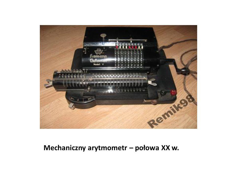 Mechaniczny arytmometr – połowa XX w.