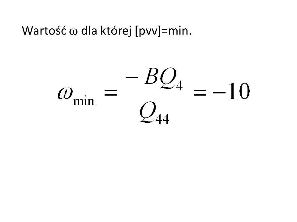 Wartość dla której [pvv]=min.