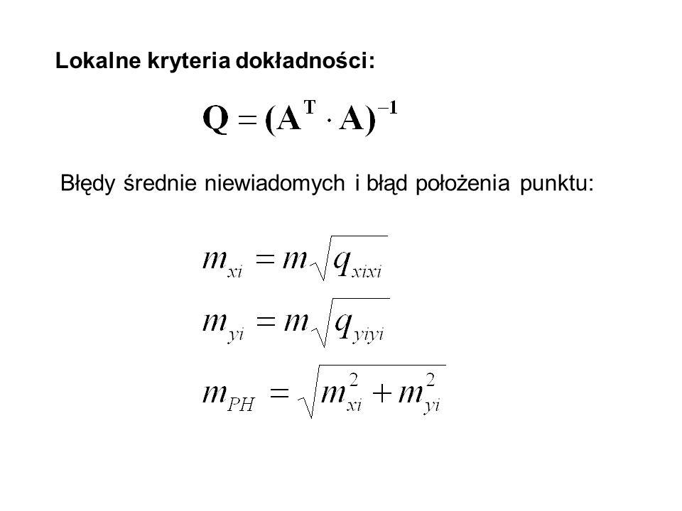Elipsa błędów Helmerta dla punktu B : AB=AB=0.024m BB=BB=0.010m ΘB=ΘB=14.5903 g wB=wB=1.17E-06 Elipsa błędów Helmerta dla punktu D: AD=AD=0.019m BD=BD=0.010m ΘD=ΘD=210.5475 g wD=wD=1.13E-06