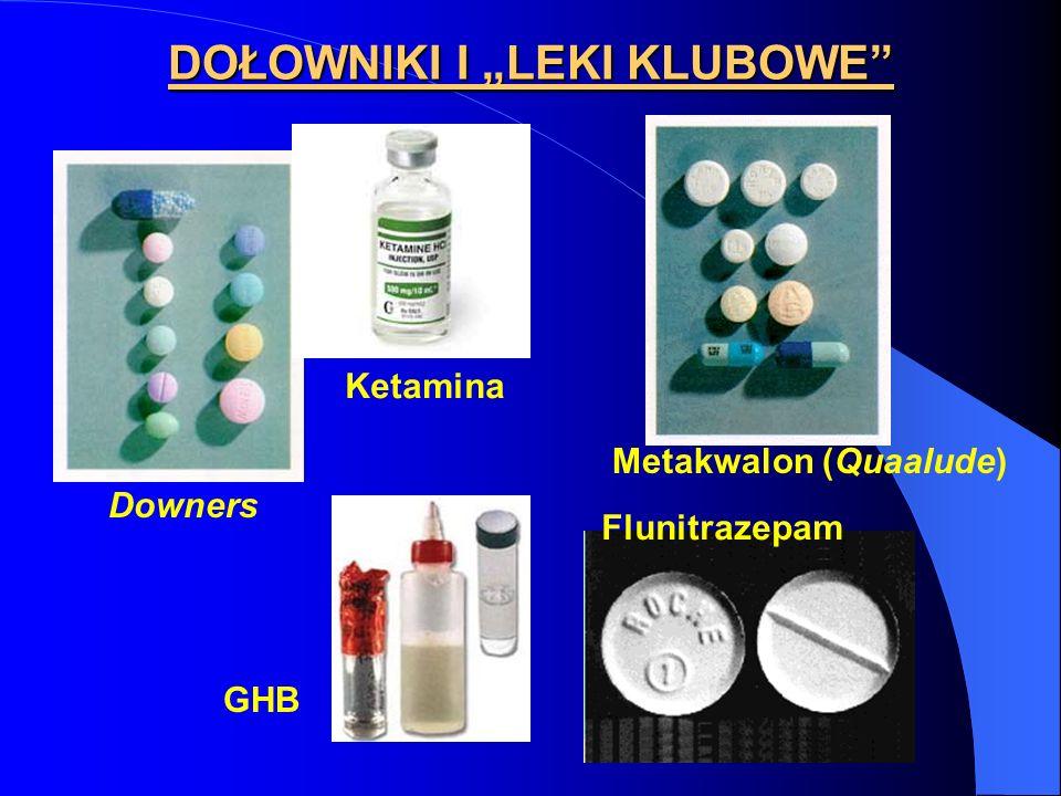 DOŁOWNIKI I LEKI KLUBOWE Downers Metakwalon (Quaalude) GHB Ketamina Flunitrazepam