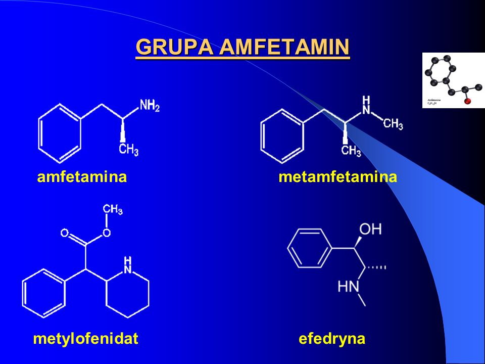 MECHANIZMY EFEKTÓW OŚRODKOWYCH AMFETAMIN MECHANIZM SCHIZOFRENII PARANOIDALNEJ - hipotezy - stopniowa kumulacja aktywnych ośrodkowo metabolitów o działaniu psychozomimetycznym (np.