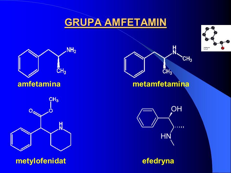GRUPA AMFETAMIN amfetamina metamfetamina metylofenidat efedryna