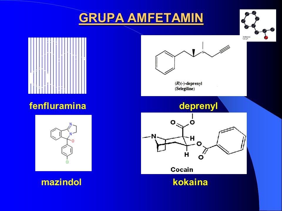 MECHANIZMY EFEKTÓW OŚRODKOWYCH AMFETAMIN - podobne efekty ośrodkowe i schizofreniczne obserwowano po stosowaniu innych psychostymulantów, np.