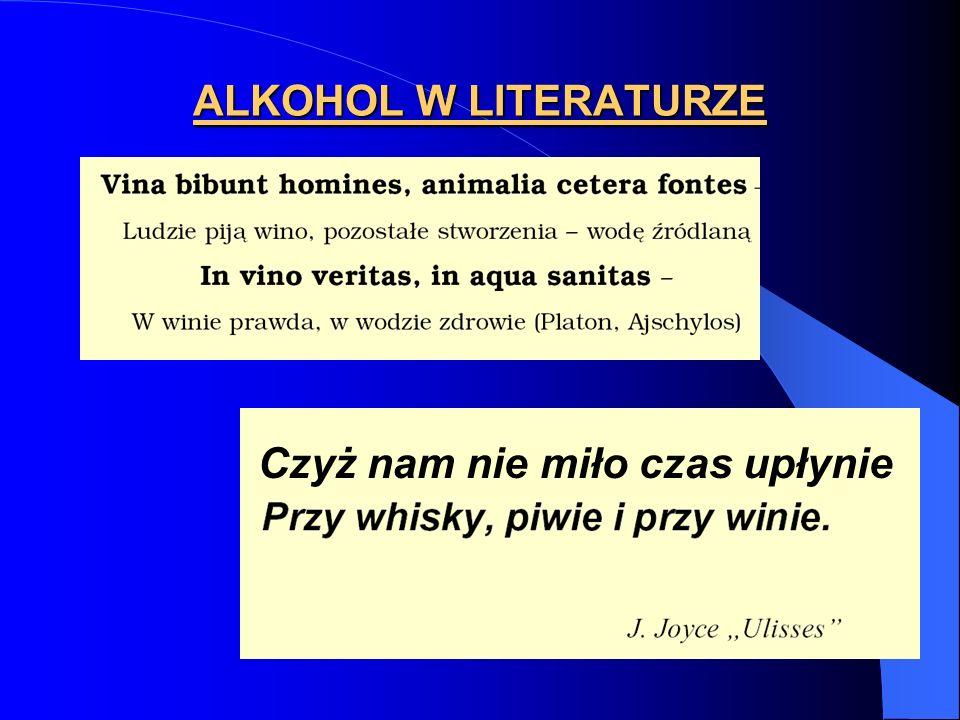 EFEKTY ALKOHOLU tolerancja krzyżowa tolerancja krzyżowa – alkoholikom podaje się bardzo wysokie dawki leków stosowanych do uzyskania znieczulenia ogólnego - zależność krzyżowa - zależność krzyżowa reakcja alkoholu etylowego podanego wraz z pochodnymi benzodiazepiny, stosowanymi w leczeniu niektórych objawów alkoholizmu