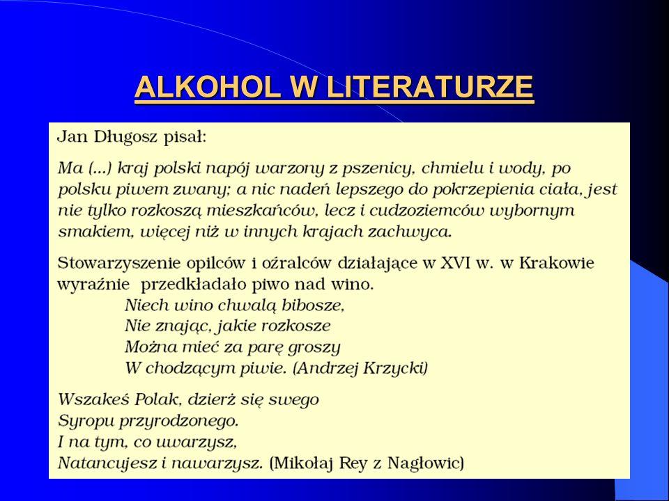 ALKOHOL W LITERATURZE