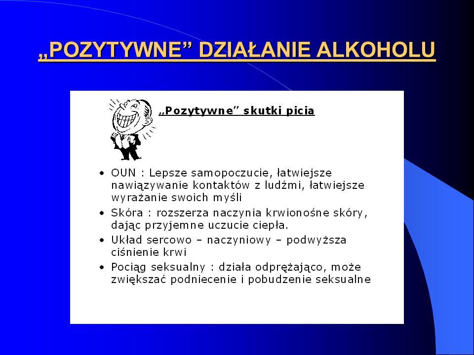 POZYTYWNE DZIAŁANIE ALKOHOLU
