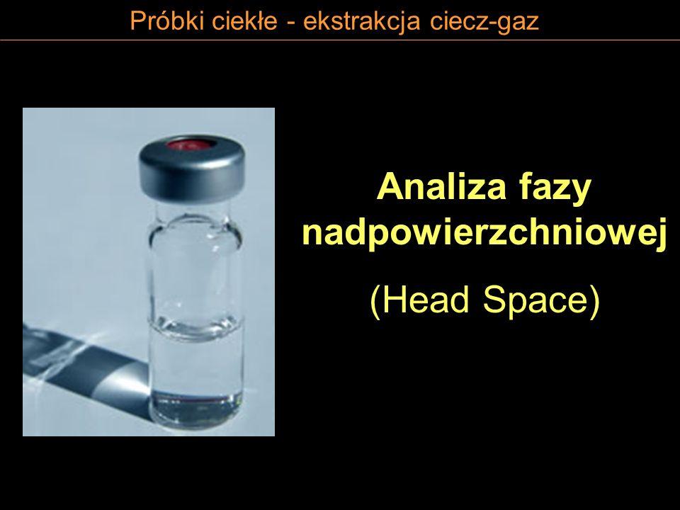 Próbki ciekłe - ekstrakcja ciecz-gaz Analiza fazy nadpowierzchniowej (Head Space)