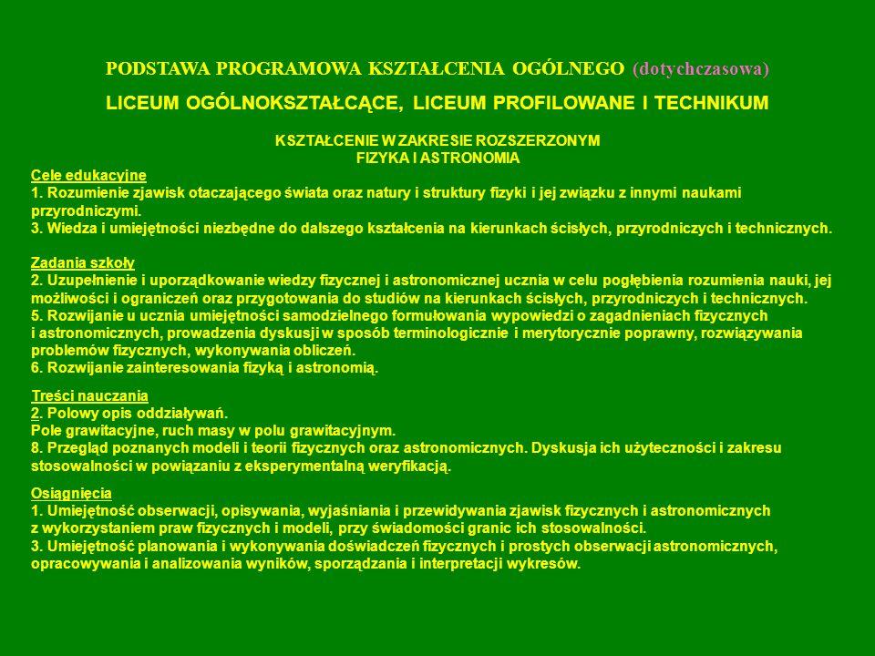 Załącznik nr 37 Standardy kształcenia dla kierunku studiów: Geografia A.