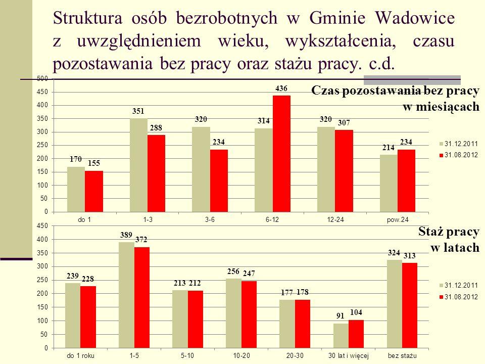 Projekty realizowane przez Powiatowy Urząd Pracy w Wadowicach w 2011 oraz 2012 roku.