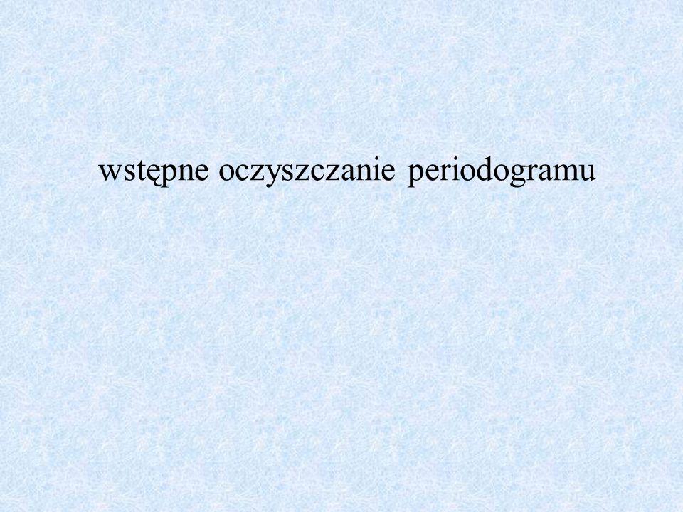 wstępne oczyszczanie periodogramu