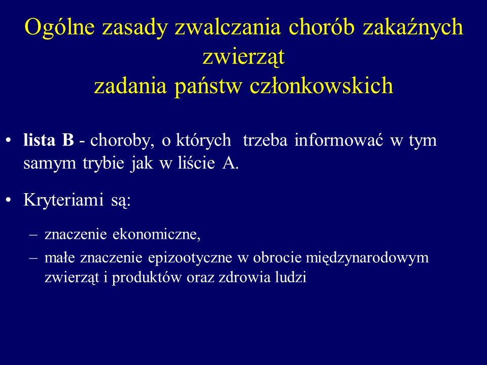 Zwalczanie chorób zakaźnych zwierząt Rozporządzenie Ministra Rolnictwa i Rozwoju Wsi z dnia 22 stycznia 2003 r.
