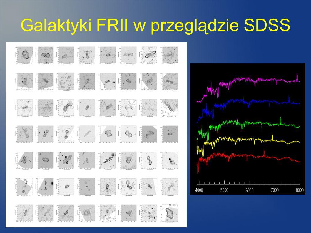 Galaktyki FRII w przeglądzie SDSS