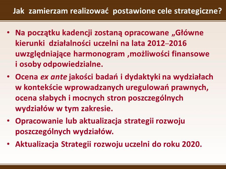 Jak zamierzam realizować postawione cele strategiczne.
