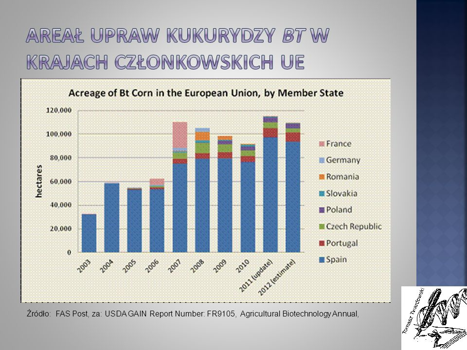 Źródło: FAS Post, za: USDA GAIN Report Number: FR9105, Agricultural Biotechnology Annual,